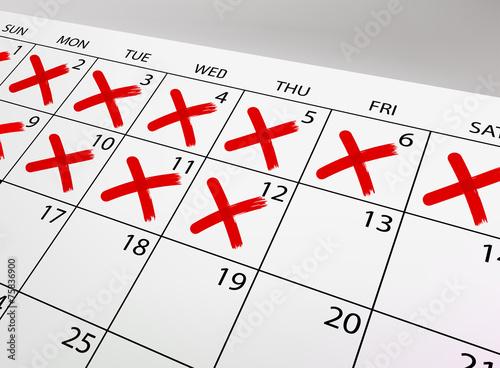 Vector calendar - 75836900