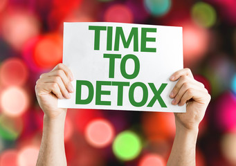 Time to Detox card with colorful background