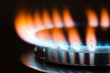 canvas print picture - Gas burner flame