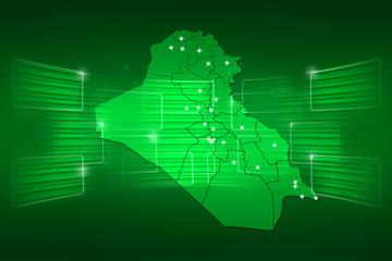Iraq Map World map News Communication green