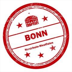 Bonn Deutschland Nordrhein Westfalen Stempel vintage