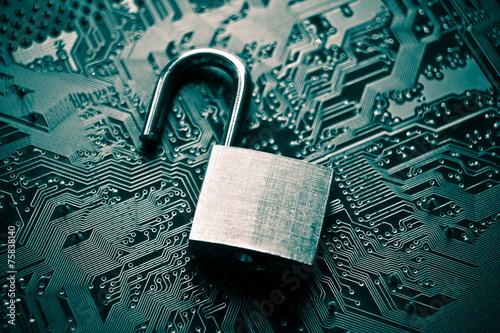 Leinwanddruck Bild computer security breach