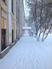 улица в снегу