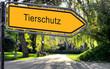 canvas print picture - Strassenschild 25 - Tierschutz