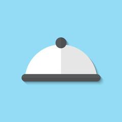 Vector restaurant cloche web icon