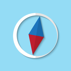 Vector compass web icon