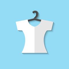 Vector clothes for women web icon