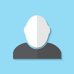 Vector icon of businessman