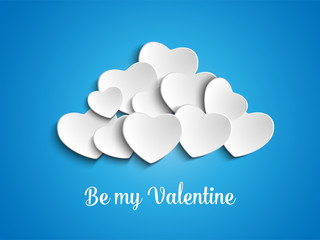 Valentine Day Heart Clouds in the Sky