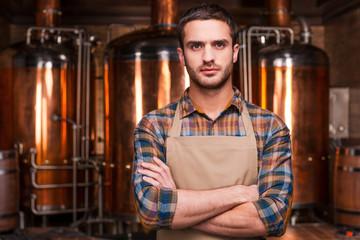 Confident brewer.