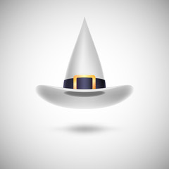 White witch hat for Halloween.
