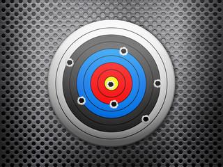 target metal background