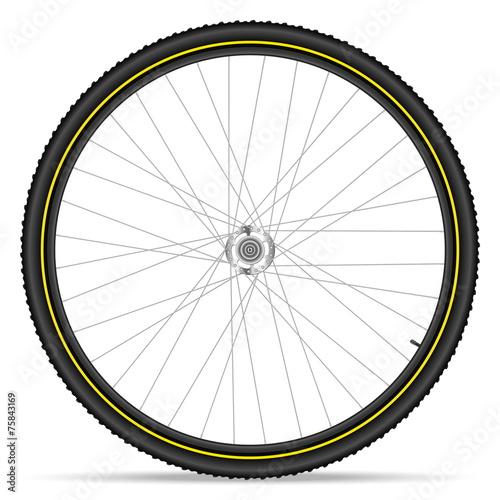 Fototapeta mountain bike wheel