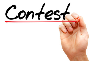 Hand writing Contest with marker, business concept