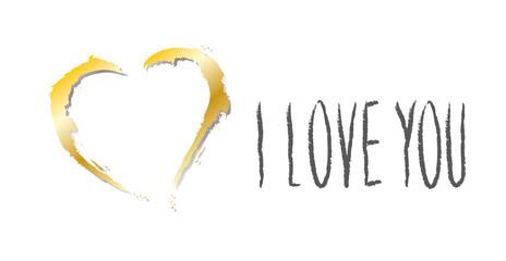 Goldenes Herz - I love you