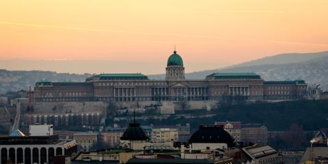 Budapest, Buda Castle at sunset