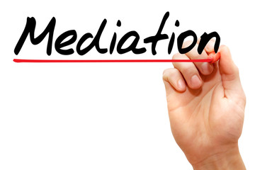 Hand writing Mediation with marker, business concept
