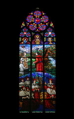Window dedicated to Rudolf I, Votiv Kirche in Vienna