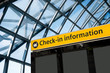 Check in, Airport Departure & Arrival information sign - 75844908