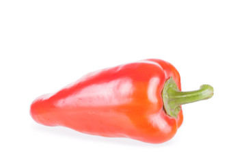 Sweet red pepper on a white background, it is isolated