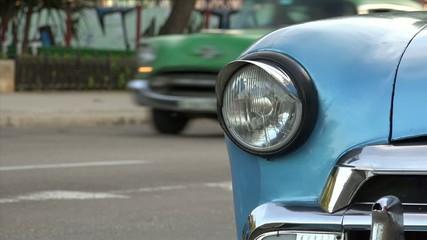 Cuba La Habana Havana Closeup Of Vintage Car Hood