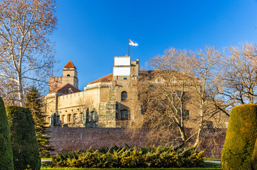 View of Belgrade Fortress in Serbia