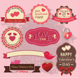 Valentinstag Labels