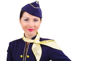 Beautiful young  smiling stewardess