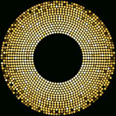 Golden disco balls background template