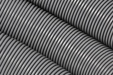 Grey corrugated pipe