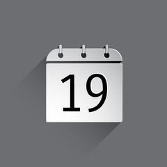 Flat calendar icon.