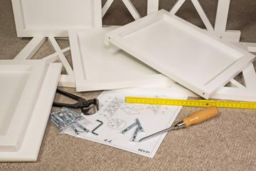 Möbel - Bausatz - Werkzeug - Heimwerker - Freizeit