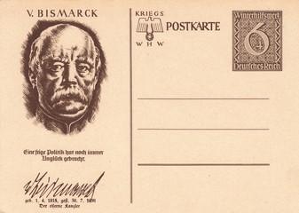 Otto von Bismarck-Post card Germany