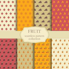 Seamless backgrounds of fruit
