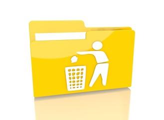 file folder with delete sign