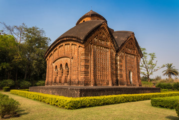 Jorbangla temple in Bishnupur, West Bengal, India