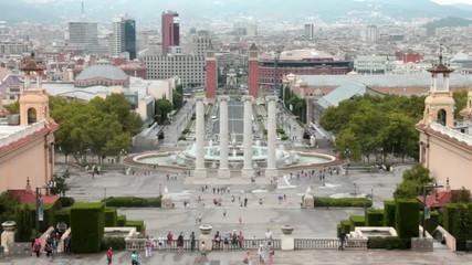 Barcelona Viewed From The Palau Nacional