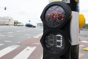 Ampel in Amsterdam, Niederlande