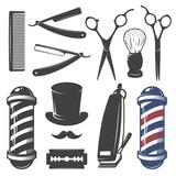 Set of vintage barber shop elements. - 75848791