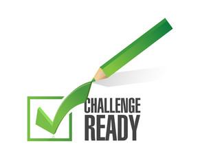 challenge ready check mark illustration
