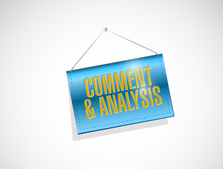 comment and analysis hanging banner
