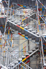 Coloured scaffolding
