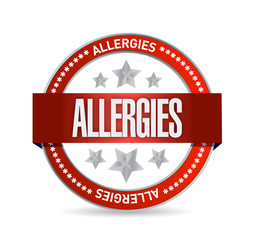 allergies seal illustration design