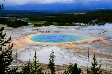 The Prismatic pool - eye in Yellowstone