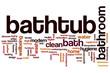Bathtub word cloud
