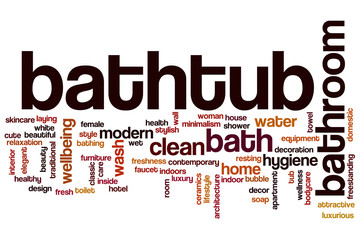 Bathtub word cloud