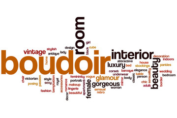 Boudoir word cloud