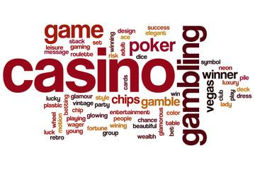Casino word cloud