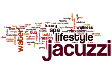 Jacuzzi word cloud