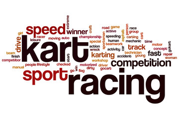 Kart racing word cloud